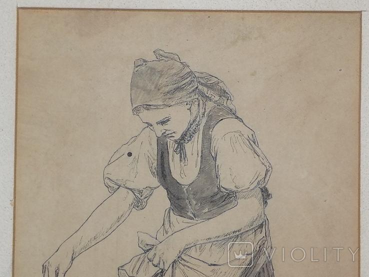 Рисунок Женщина сеятель Польша, фото №3