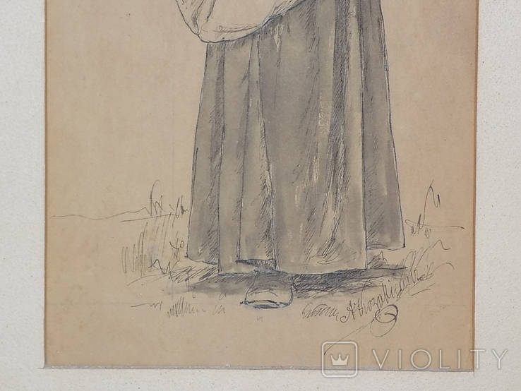 Рисунок Женщина сеятель Польша, фото №4