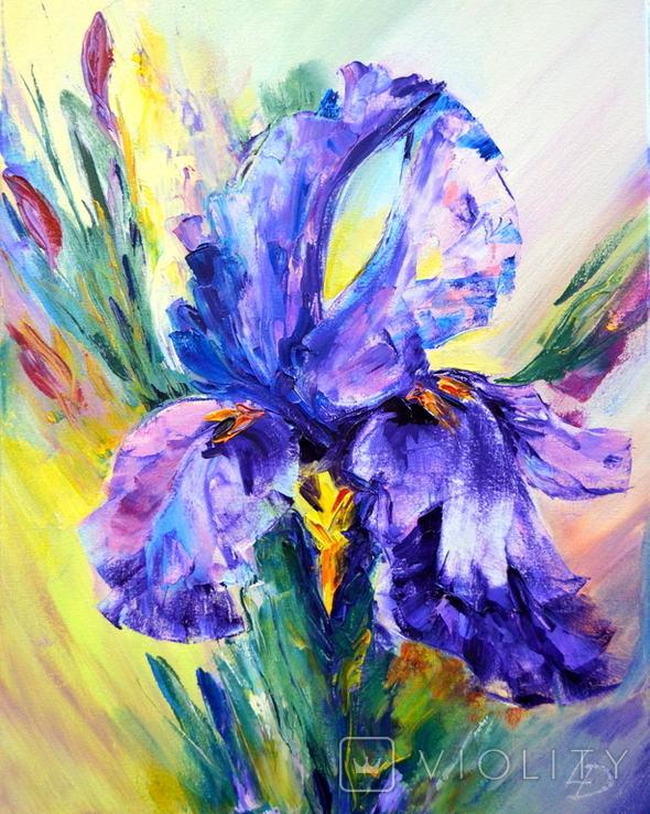 "Картина маслом ""Mysterious Flower"", фото №2"
