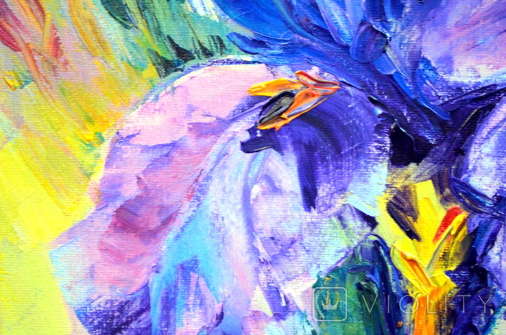 "Картина маслом ""Mysterious Flower"", фото №4"