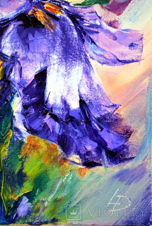 "Картина маслом ""Mysterious Flower"", фото №6"