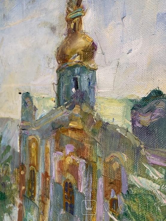 Картина. Церковь, храм, собор, вход в Лавру. Холст, масло. Размер 40*50 см, фото №5