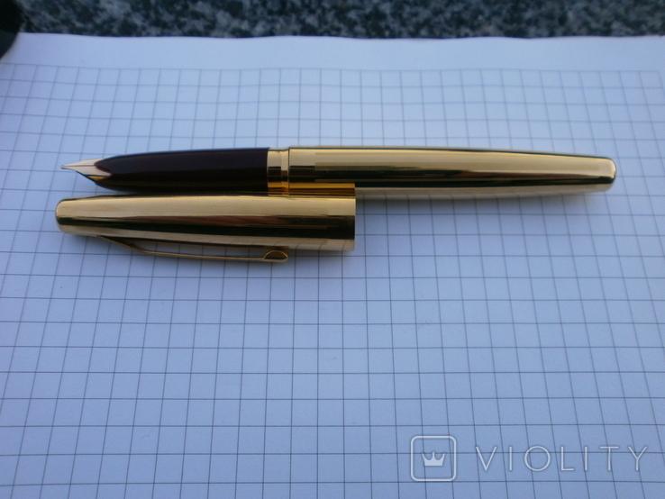Ручки 2шт.АР806.8 (золотое перо) и ручка шариковая 1500 лет Киеву.Обе ручки позолоченные., фото №5