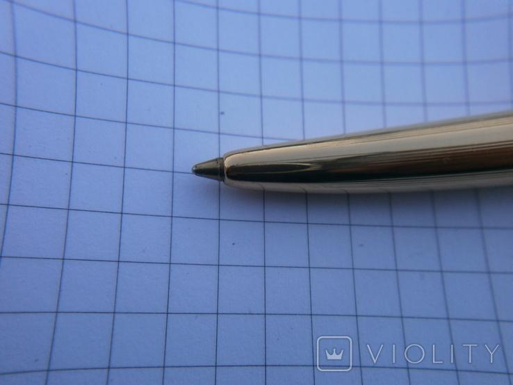 Ручки 2шт.АР806.8 (золотое перо) и ручка шариковая 1500 лет Киеву.Обе ручки позолоченные., фото №10