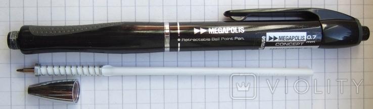 """Новая немецкая шариковая ручка """"Erich Krause"""" c новым стержнем, фото №6"""