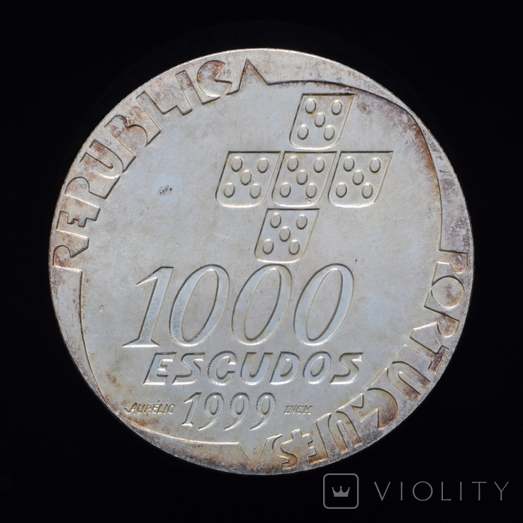 1000 Эскудо 1999 25 лет Революции 25 апреля, Португалия, фото №2