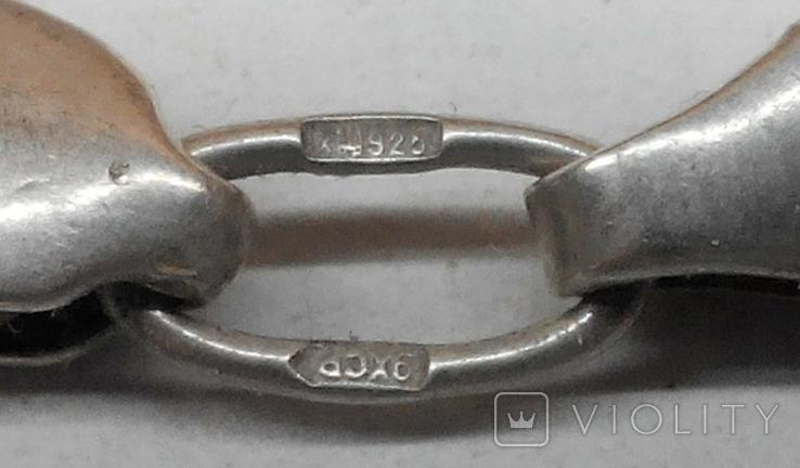 №463. Цепочка с крестиком 23,6г, серебро 925., фото №3