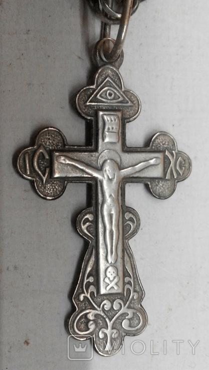 №463. Цепочка с крестиком 23,6г, серебро 925., фото №6