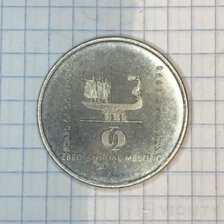 2 гривні 1998 року. ЄБРР, копія, фото №5
