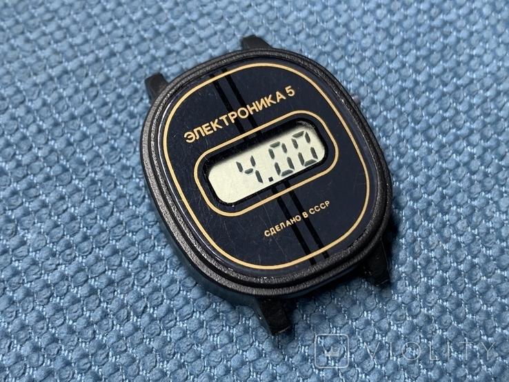 Электроника 5 Часы наручные СССР Новые в упаковке с паспортом, фото №2