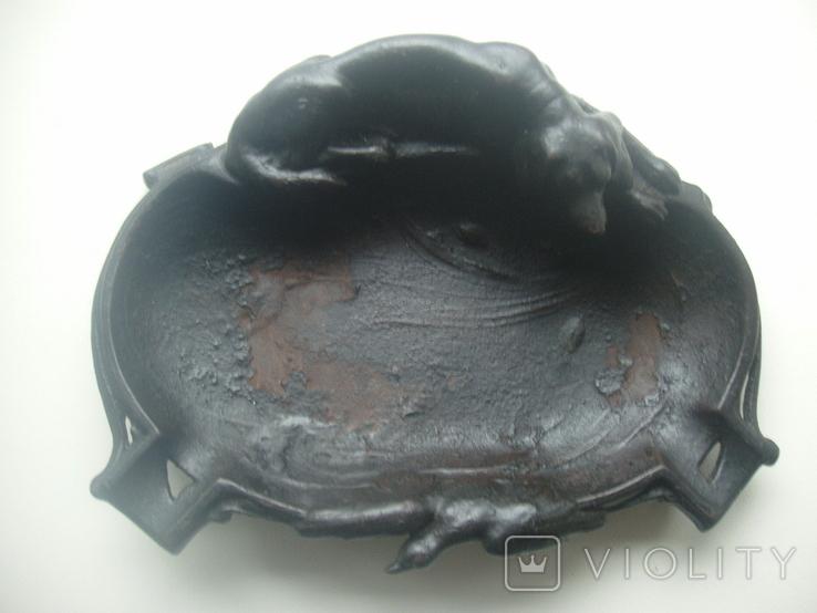 Пепельница охота собака Куса Царская Россия чугун, фото №8