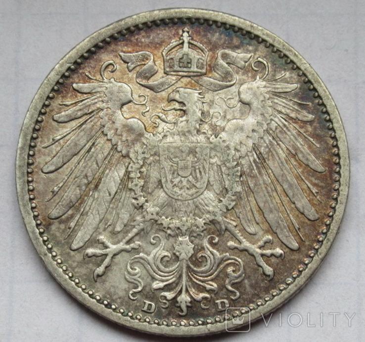 1 марка 1908 г. (D) Германия, серебро, фото №5
