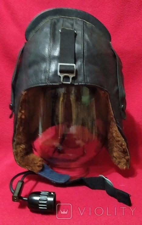Шлем лётный СССР 1979г.зимний 53 размер, фото №2