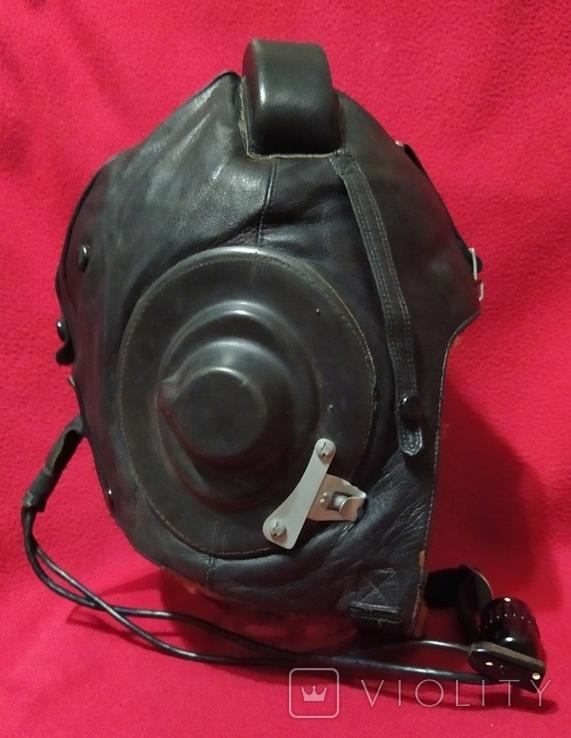 Шлем лётный СССР 1979г.зимний 53 размер, фото №3