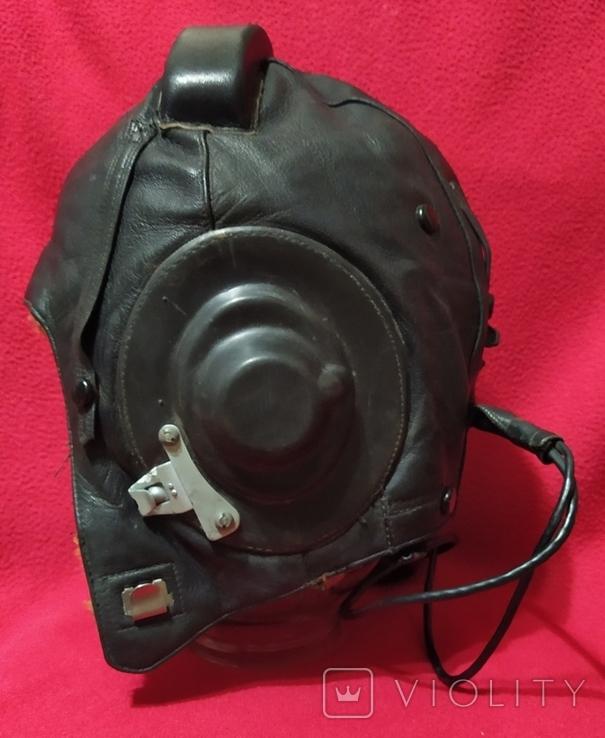 Шлем лётный СССР 1979г.зимний 53 размер, фото №5