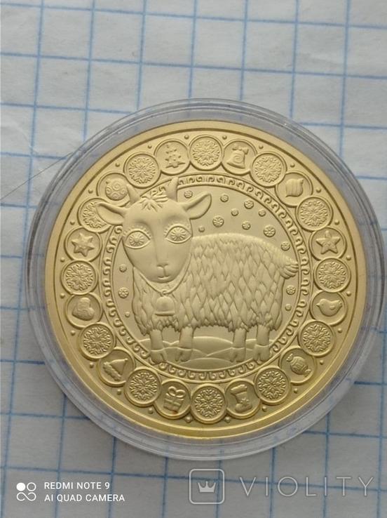 100 рублей 2011 Козерог Беларусь золото 15,5 гр. 900, фото №3