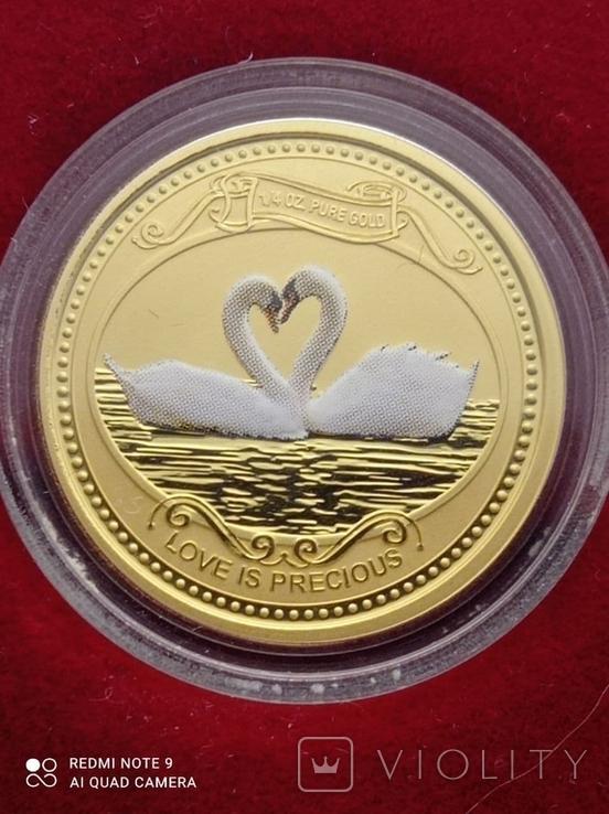 10 долларов 2008 Острова Кука 1/4 oz 999,9 тираж 12000, фото №2