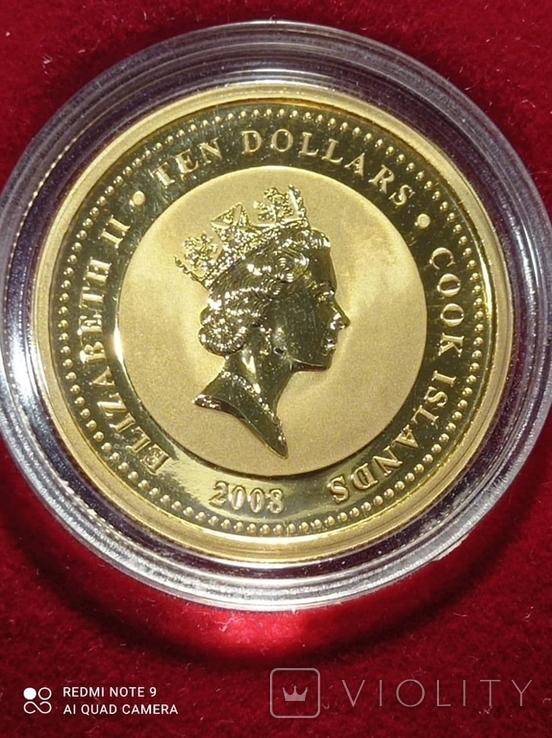 10 долларов 2008 Острова Кука 1/4 oz 999,9 тираж 12000, фото №6