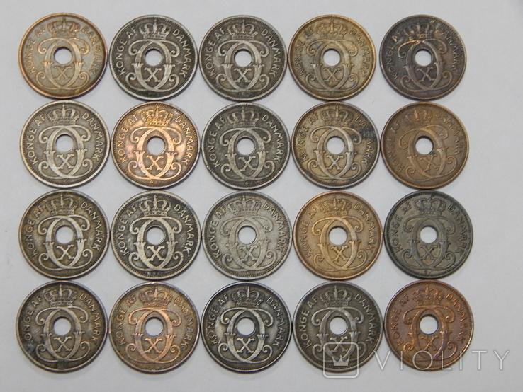 20 монет по 2 оре, Дания, фото №3