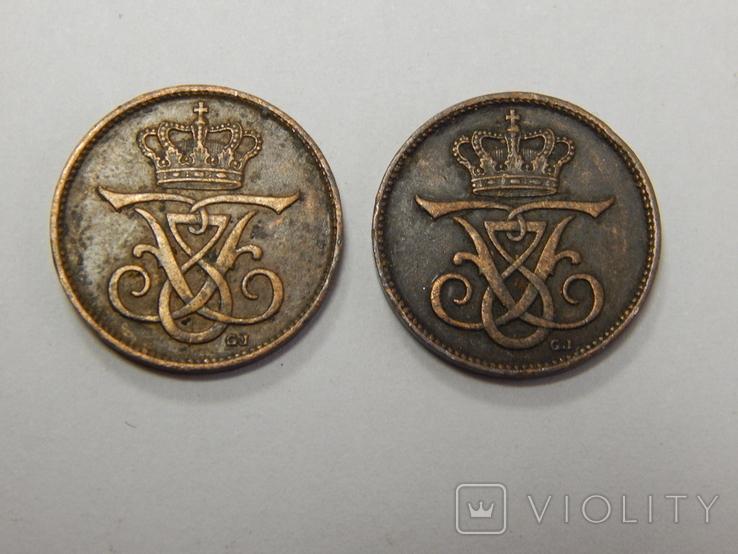 2 монеты по 1 оре, 1907 г Дания, фото №3