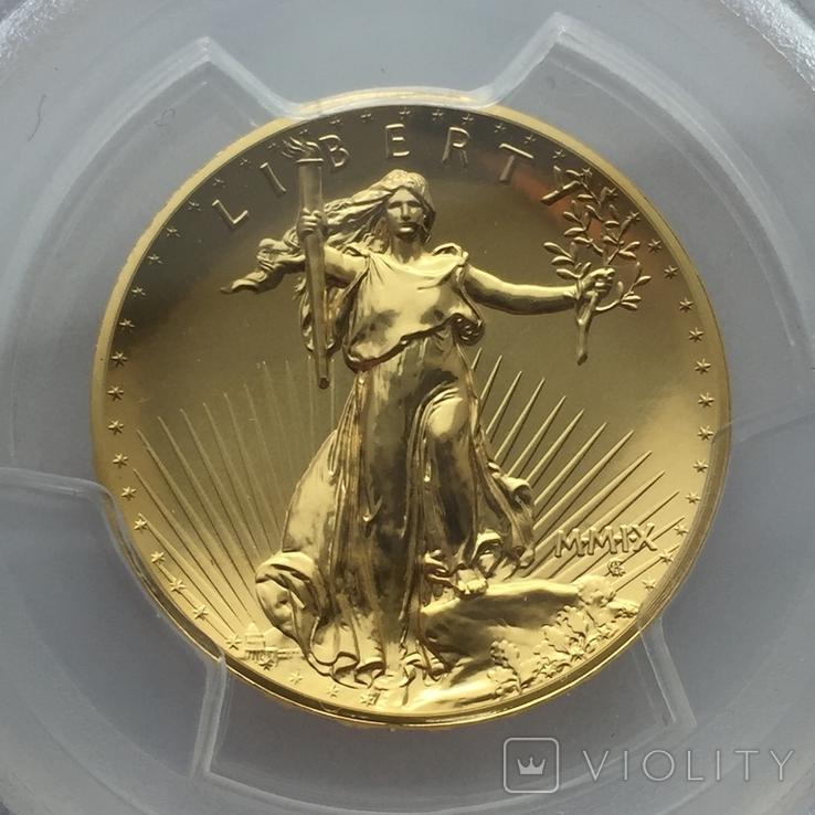 Ультра-рельефный двойной орёл 2009 г. 20 США золото 999.9 -31.1 гр., фото №3
