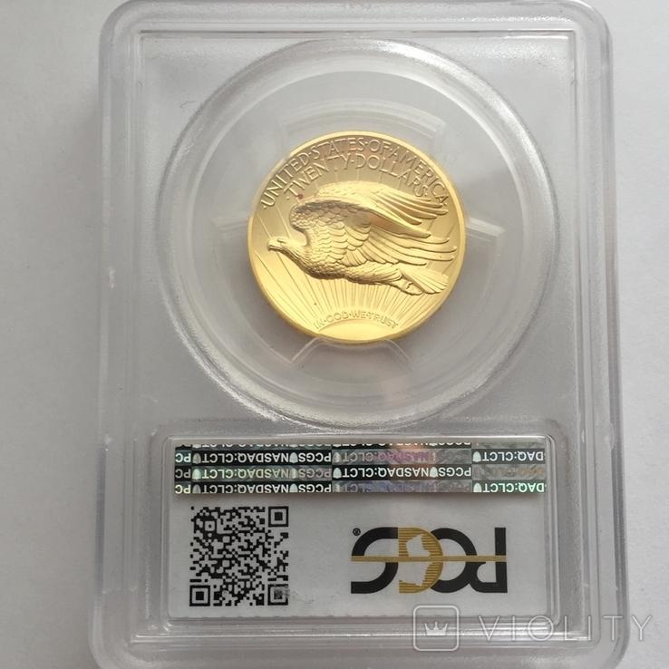 Ультра-рельефный двойной орёл 2009 г. 20 США золото 999.9 -31.1 гр., фото №5