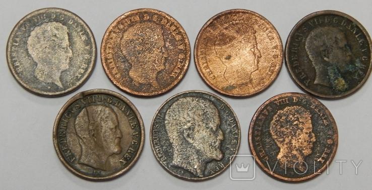 7 монет по 1 скиллингу, Дания, фото №3