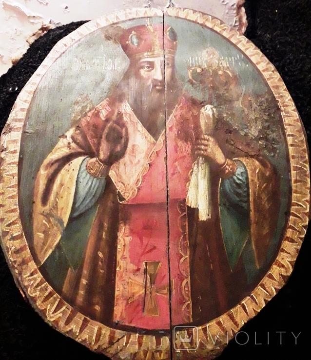 Большая метровая икона,Иаков или Черниговский?, фото №2
