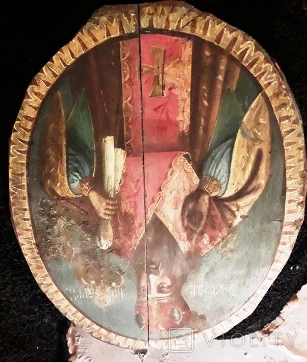 Большая метровая икона,Иаков или Черниговский?, фото №5