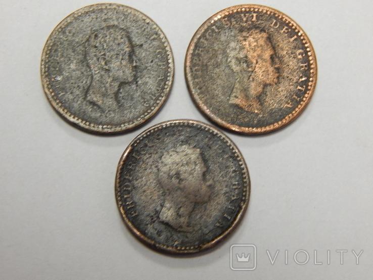 3 монеты по 3 скиллинга, Дания, фото №3