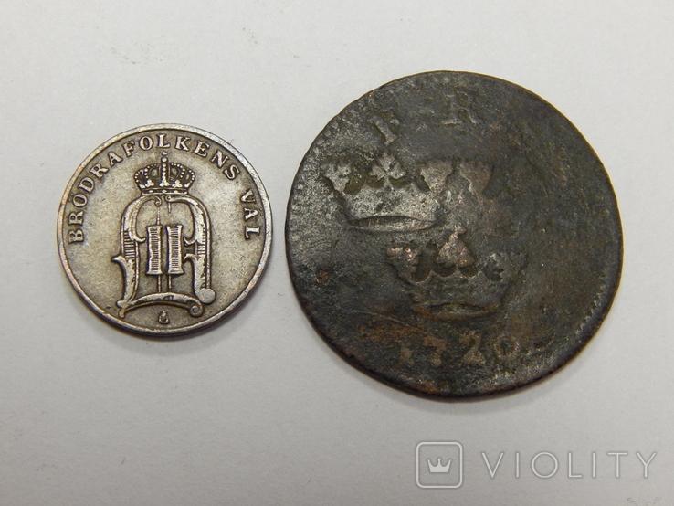 2 монеты по 1 оре, Швеция, фото №3