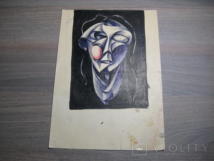 """""""Портрет неизвестной"""" Без подписи. 70 - е годаХХ века., фото №2"""