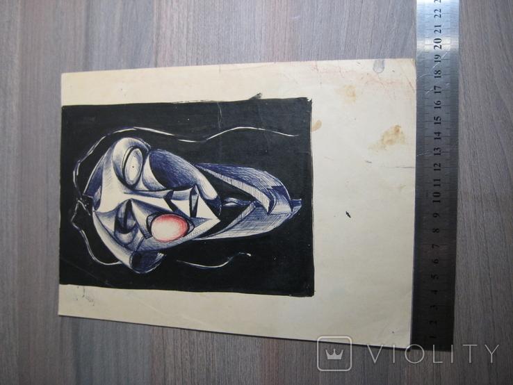 """""""Портрет неизвестной"""" Без подписи. 70 - е годаХХ века., фото №4"""