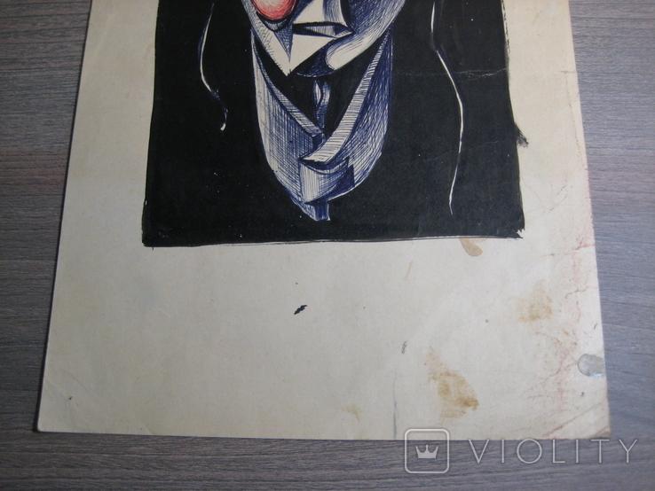 """""""Портрет неизвестной"""" Без подписи. 70 - е годаХХ века., фото №7"""