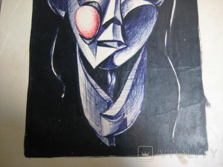 """""""Портрет неизвестной"""" Без подписи. 70 - е годаХХ века., фото №9"""