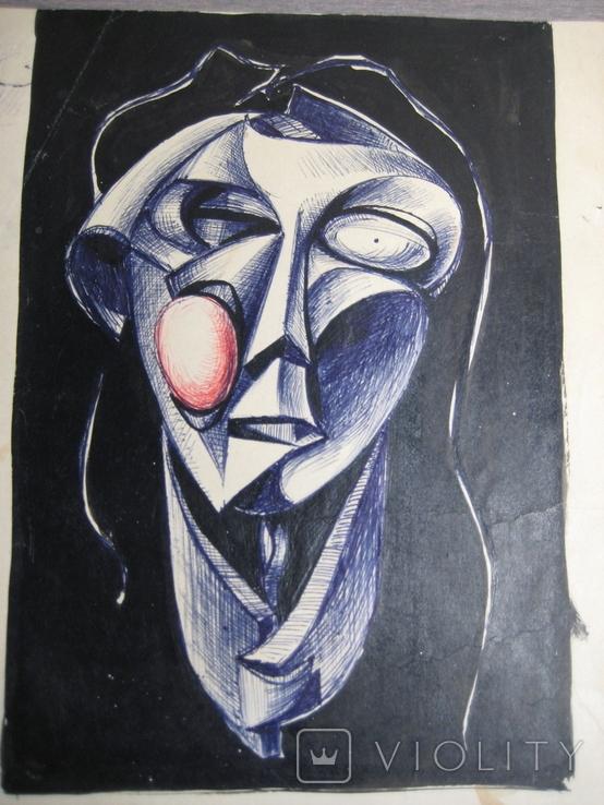 """""""Портрет неизвестной"""" Без подписи. 70 - е годаХХ века., фото №10"""