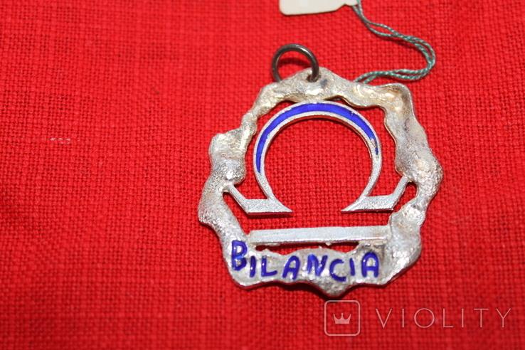 "Кулон знак зодиака"" Весы"" серебро, фото №2"