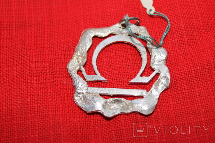 "Кулон знак зодиака"" Весы"" серебро, фото №3"