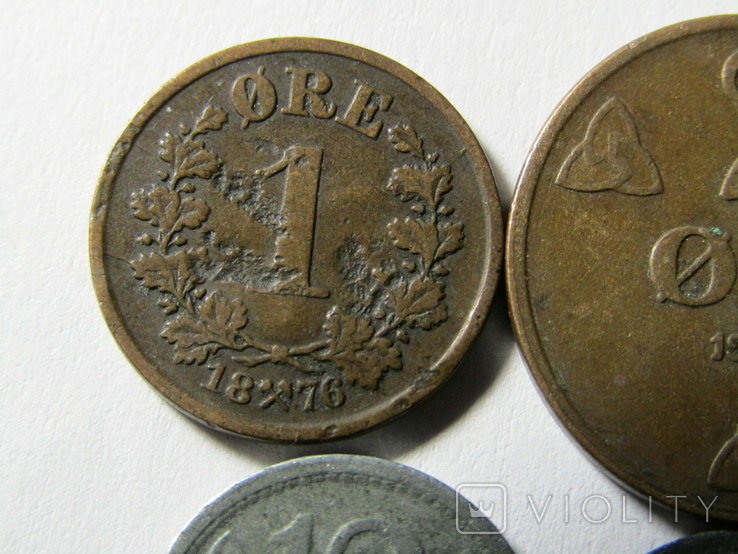 Монеты Норвегии 4 шт., фото №3