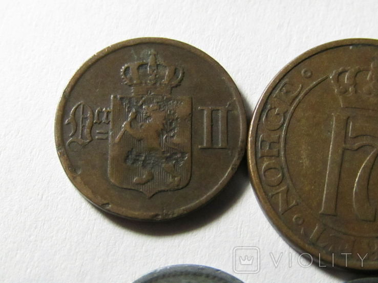 Монеты Норвегии 4 шт., фото №8