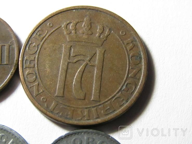 Монеты Норвегии 4 шт., фото №9