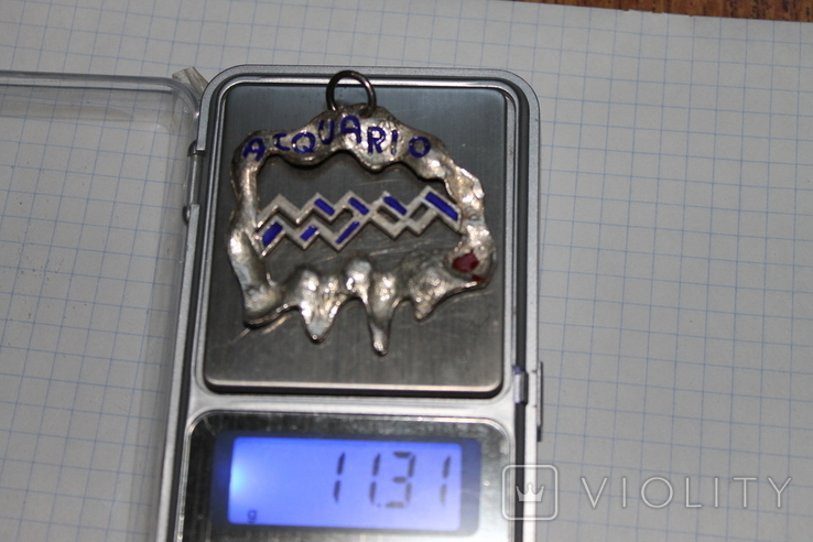 """Кулон знак зодиака"""" Водолей"""" серебро, фото №4"""