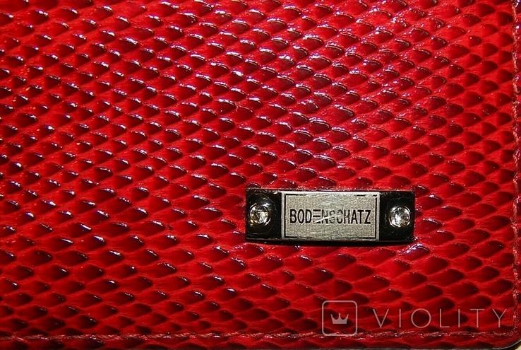 Кожаный красный кошелек, фото №4