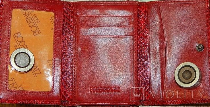 Кожаный красный кошелек, фото №5