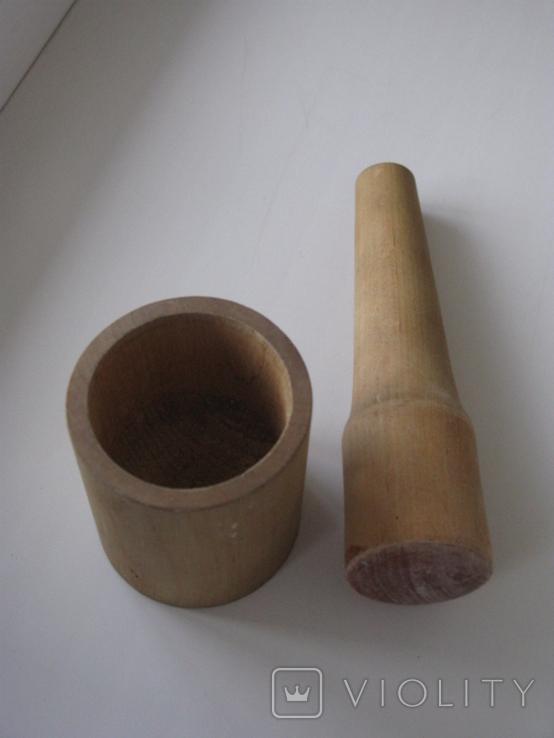 Ступка деревянная времен  СССР, фото №3