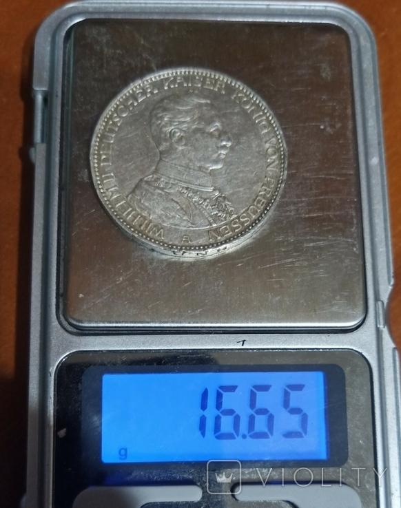 3 марки 1913 р. Пруссія. Вільгельм ІІ в мундирі, фото №11