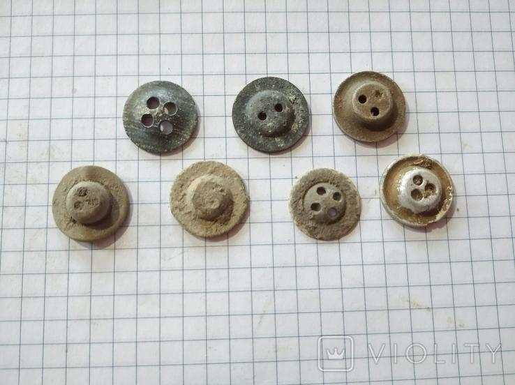 Пуговицы (ретузницы), 7 шт, фото №3