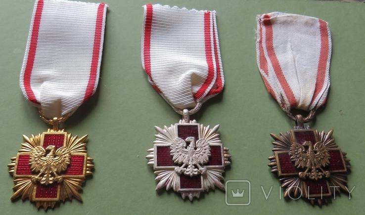 Крест «Заслуг Польского Красного Креста» I, II, III степеней., фото №2