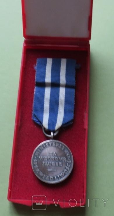 Медаль « За 15 лет образцовой пенитенциарной  службы », Польша, фото №3