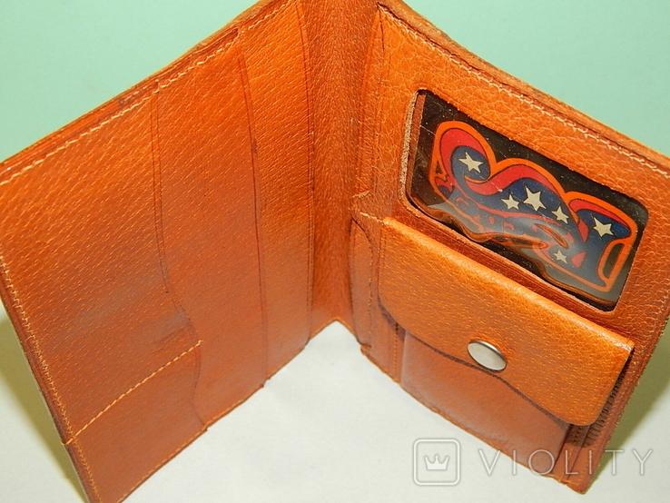 Винтажное кожанное portmone, фото №4